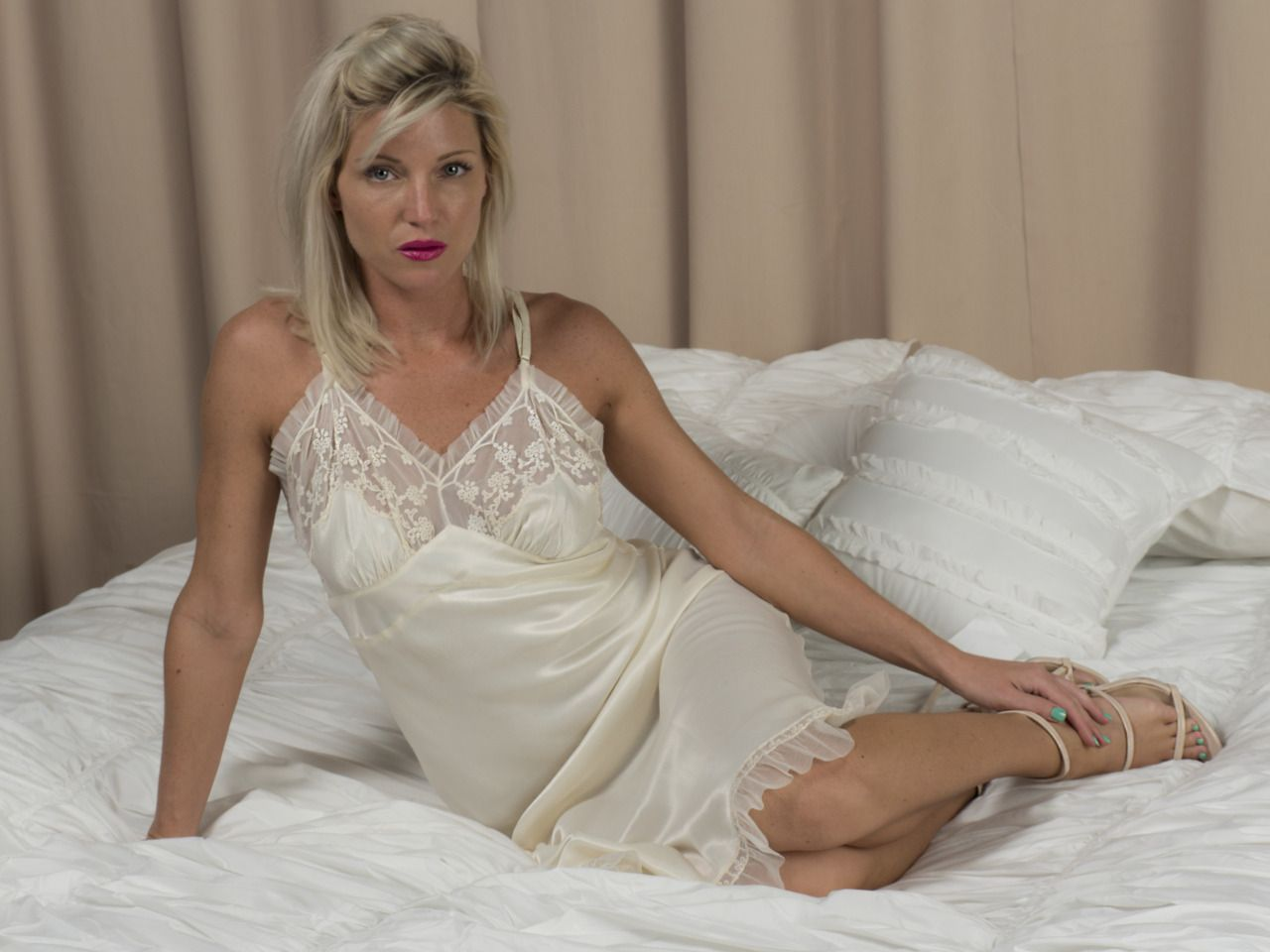 Mature women in nightgowns