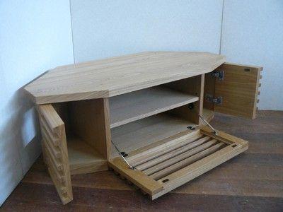 コーナーテレビ台 無垢材の品格とおしゃれ感 テレビ台 コーナー ワインキャビネット 手作り家具