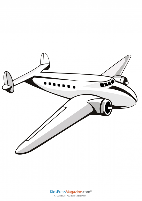 Aircraft with pilot and passenger Clipart Image