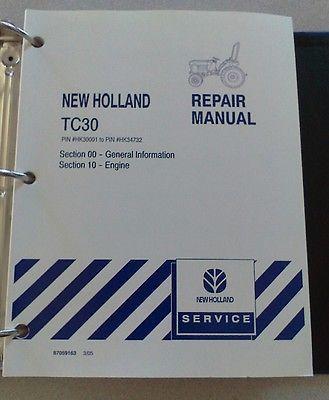 new holland tc30 tractor service repair manual mar 05 section 55 jul rh pinterest com new holland tc30 service manual pdf new holland tc30 operations manuals