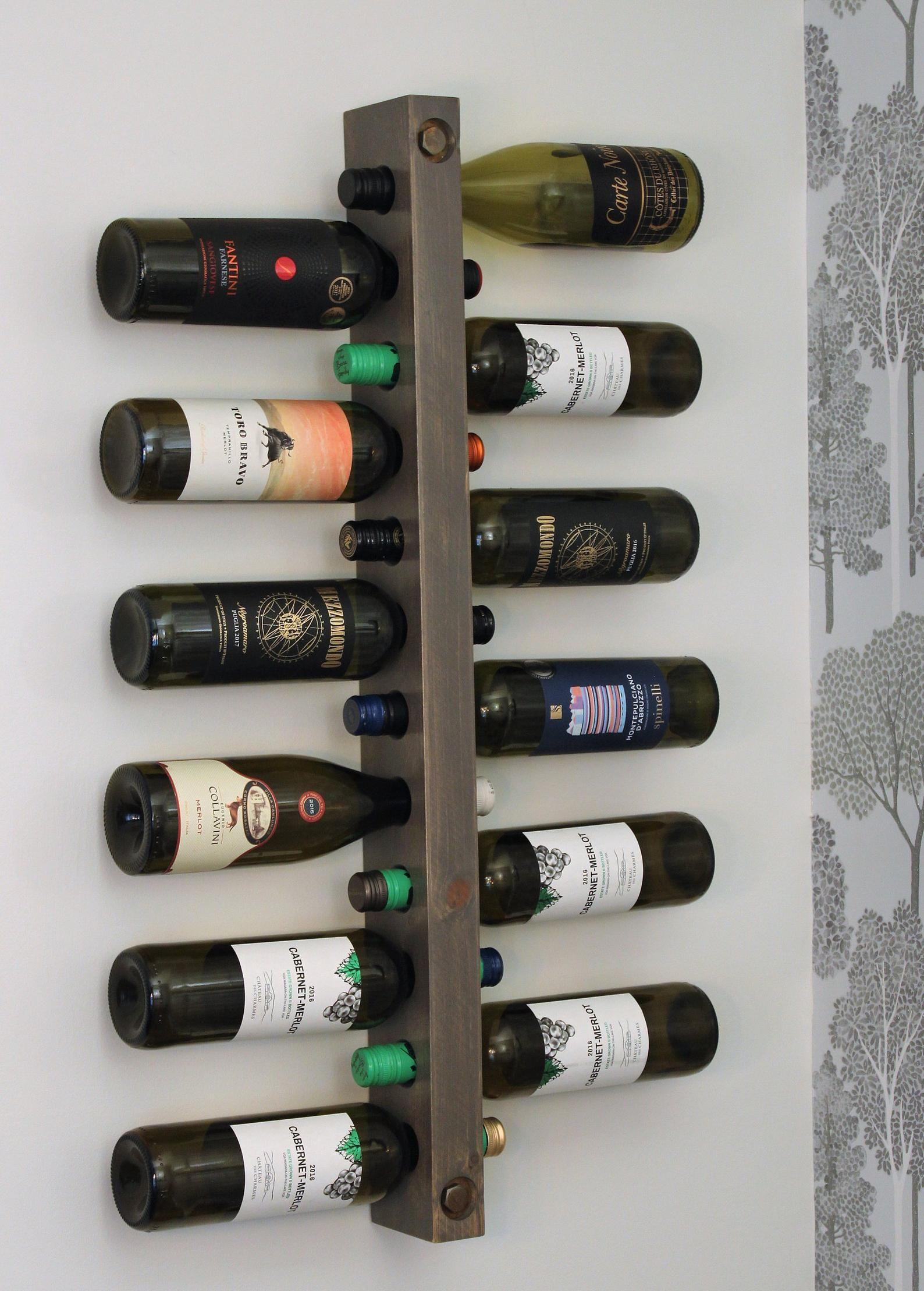 Wine Rack 12 Bottle Holder Wine Rack Wood Minimalist Wall Mounted Rustic Wine Rack Kitchen Wine Decor Housewarming Gift Christmas Gift In 2020 Wine Rack Wine Decor Kitchen Wine Rack Wall