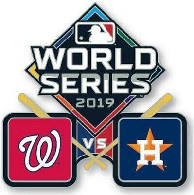 Official 2019 MLB World Series Pin Washington Nationals vs