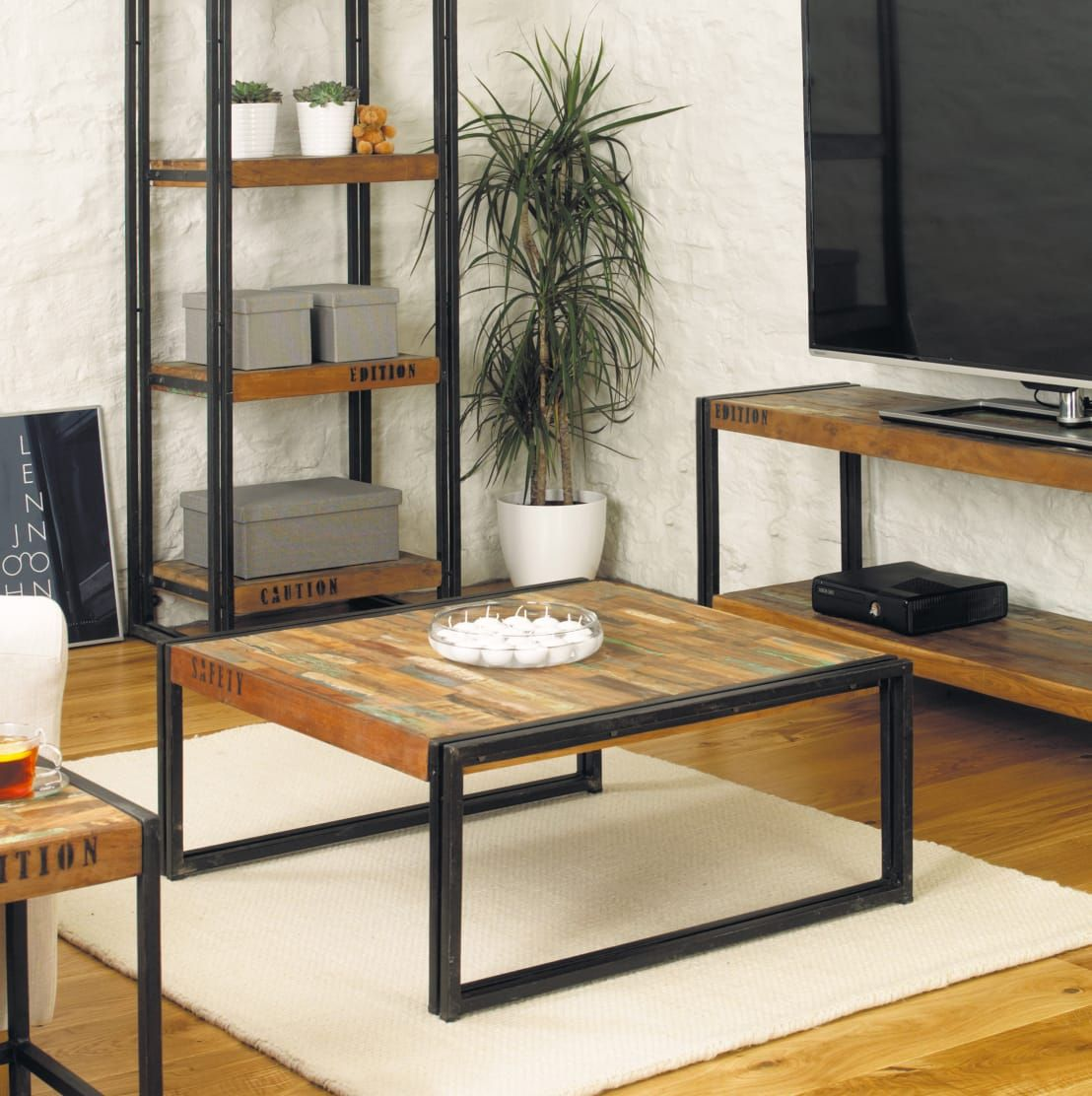 Industrial square coffee table from our urban chic range furniture