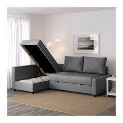 IKEA - FRIHETEN, Sofá-cama de canto, Skiftebo bege,  , , A chaise longue pode…