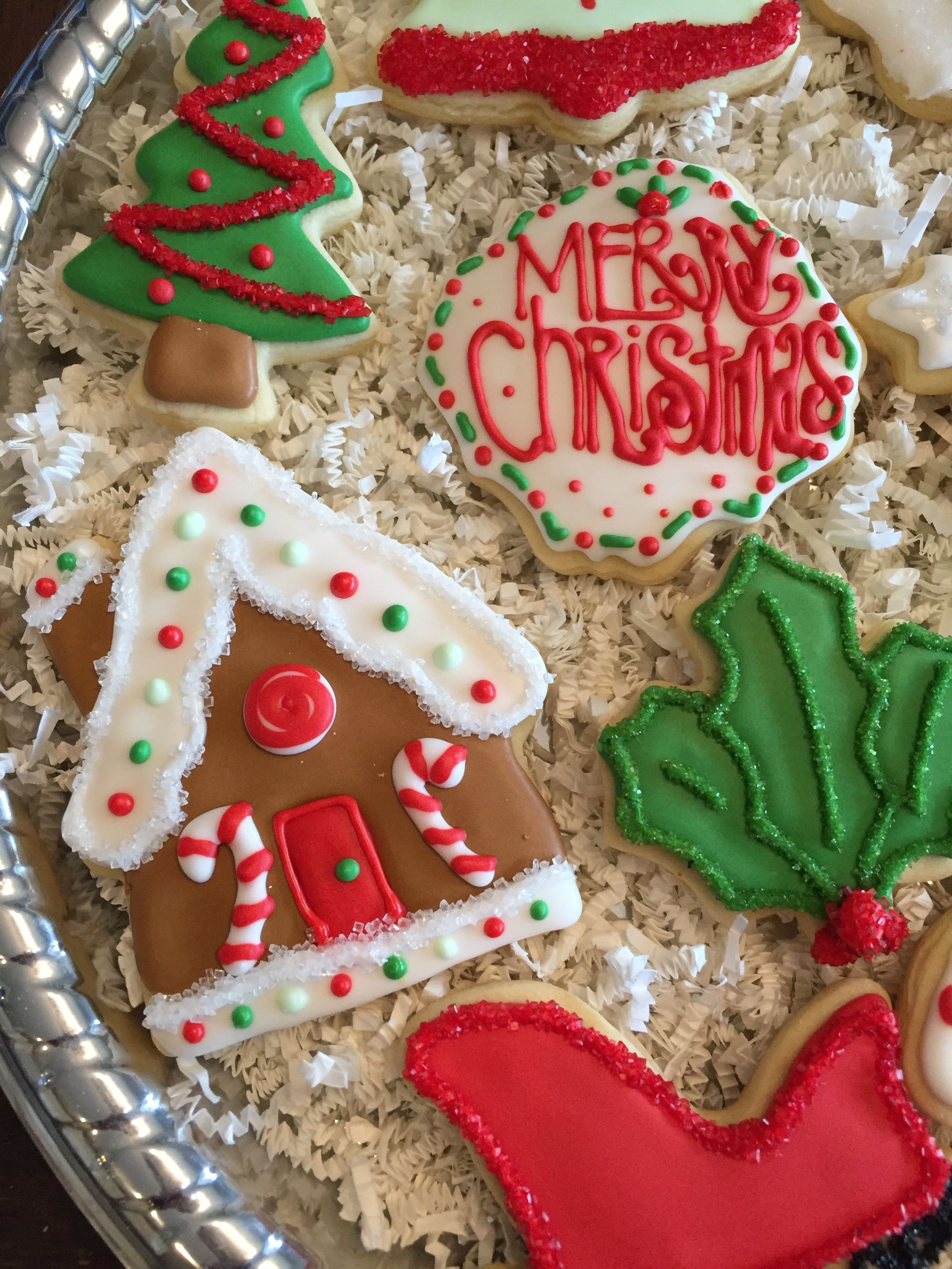 Merry Christmas Cookies Royal Icing Ginger Bread House Cookie My