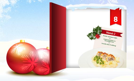 """Heute verbirgt sich hinter dem Fenster unseres clever® Adventkalenders 2012 das 2. Weihnachtsmenü aus unserem """"clever® Kochbuch Weihnachten""""! Wie Ihr damit gewinnen könnt, erfahrt Ihr in unserem Onlinemagazin http://www.cleverleben.at/clever-magazin/post/2012/12/08/das-8-fenster-ist-offen.html"""