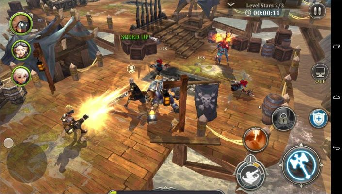 Heroes of Skyrealm is a Free-to-play Android, Action Role-Playing Multiplayer Game set in a vibrant world of airships and adventure