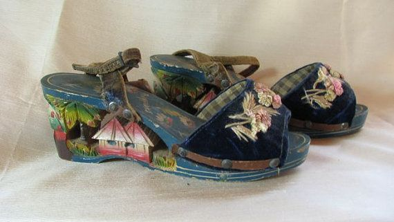 1940s Hand made Sandals from the Philippines