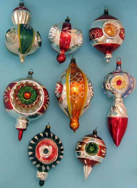 Decorazioni Natalizie Anni 50.Decorazioni Natalizie In Vetro Antichi Addobbi Natale Vintage