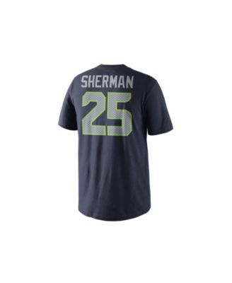 d79758c70 Nike Men s Richard Sherman Seattle Seahawks Super Bowl Xlix Replica Player  T-Shirt