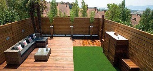 Diseño de jardines pequeños de Casas con o sin cesped articial o