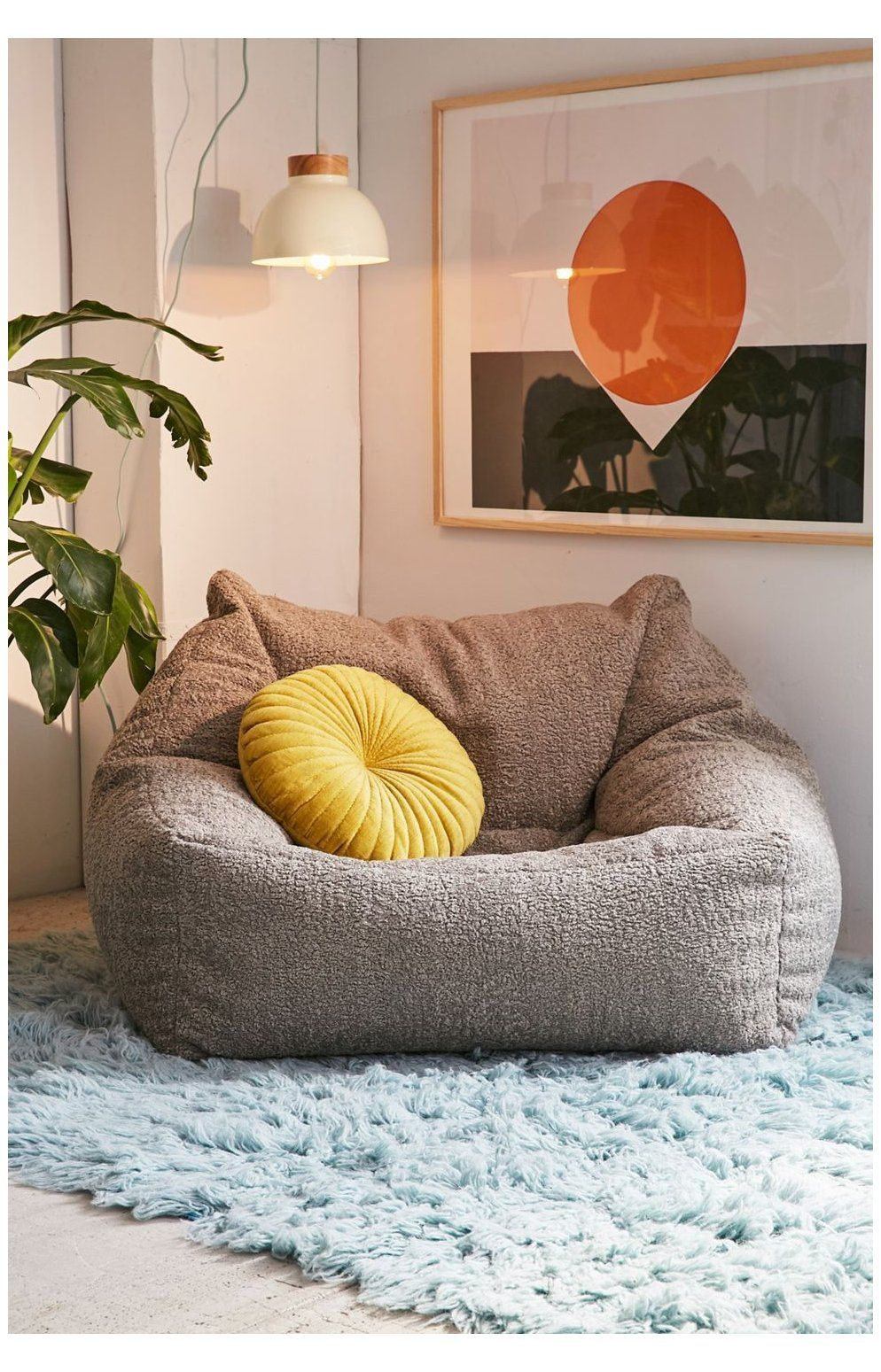 Cooper Faux Sheepskin Lounge Chair Diy Cozy Chair Instantly Cozify Your Space With T In 2020 Comfortable Living Room Chairs Living Room Seating Bean Bag Living Room #overstuffed #chairs #for #the #living #room