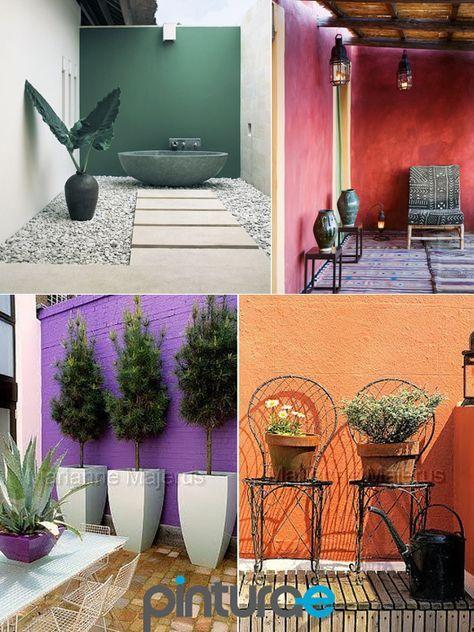 Colores Colores Para Patios Colores Pintura Pared Jardines De Pared