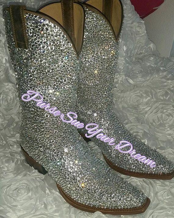 f9a045b3153 Custom Design Swarovski Crystal Wedding Cowboy Boots - Custom Boots ...