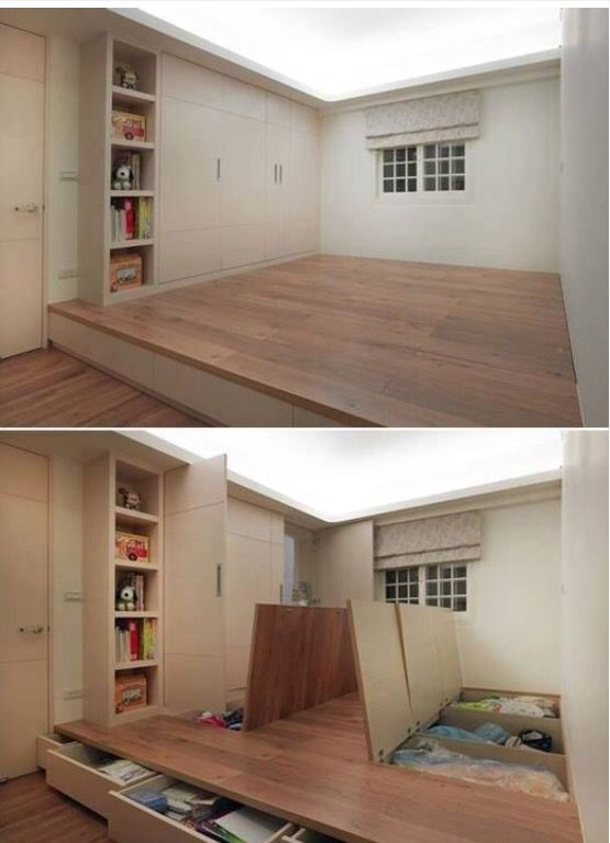 Créer un semi étage pour avoir un espace de rangement