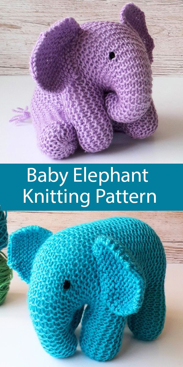 Photo of Knitting Pattern for Baby Elephant Toy