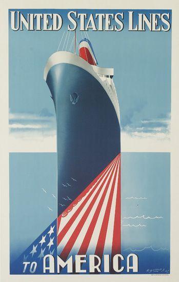 E. Borlos, United States Lines to America. 1947