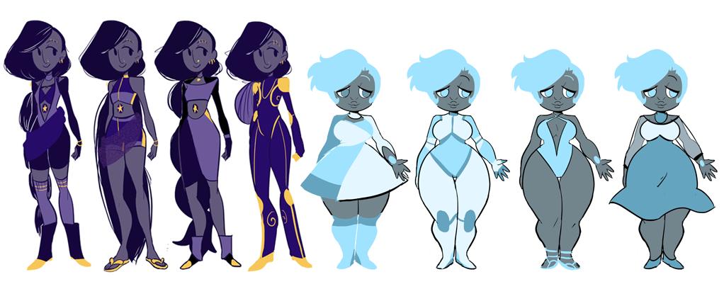 Star Garnet And Aquamamarine By Illzie On Deviantart Steven Universe Steven Universe Oc Crystal Gems Steven Universe