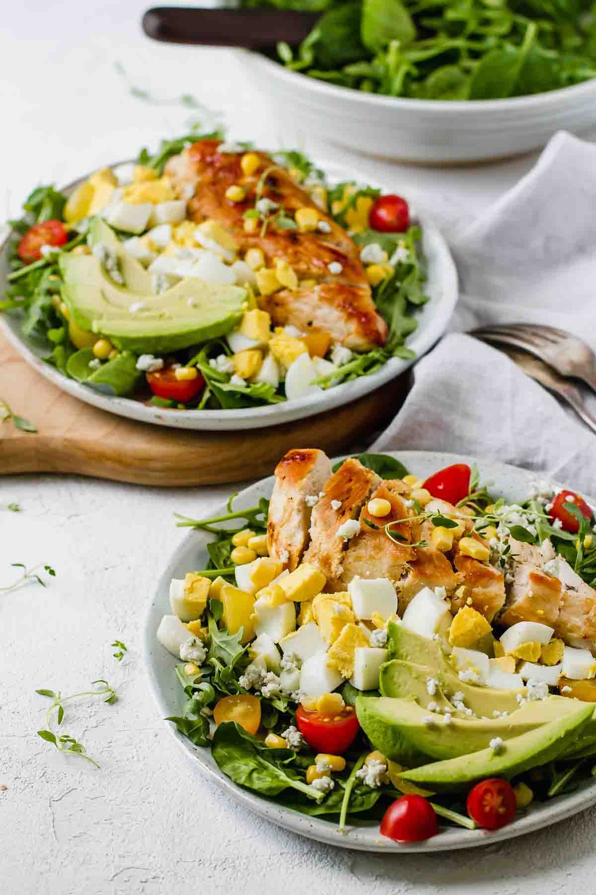 Healthy Chicken Cobb Salad Recipe Quick Dinner Recipes Easy