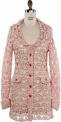 crochet veste | Coats, cardigans, sweater | Pinterest | Mantel ...