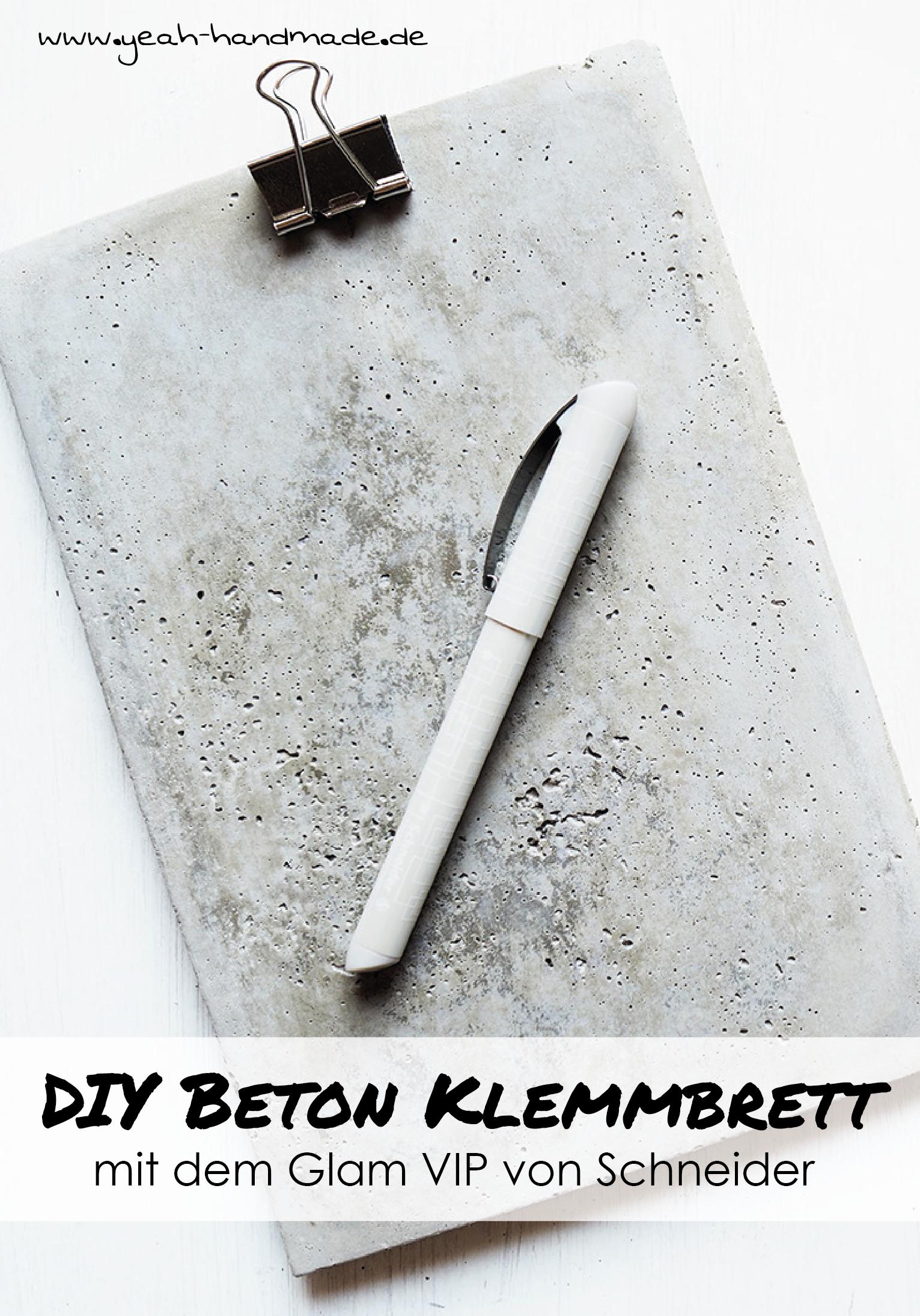 Anzeige] DIY stylisches Klemmbrett aus Beton selbermachen. Perfekt ...