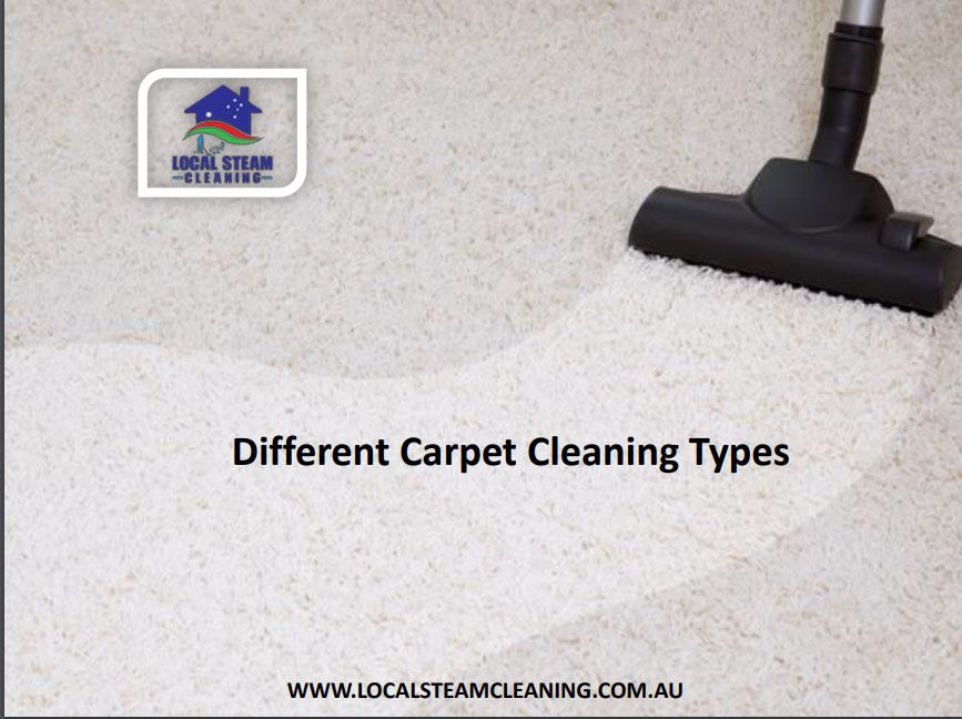 Different Carpet Cleaning Types Steam cleaning services