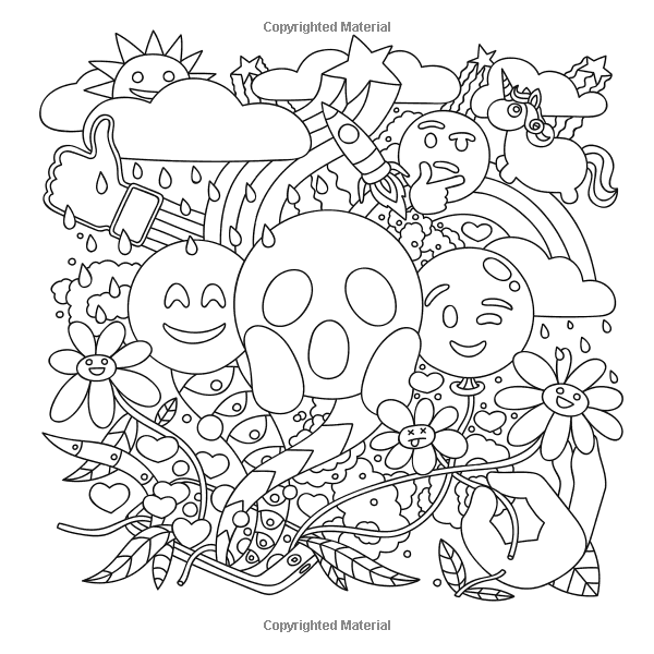 Amazoncom Emoji Coloring Book Fun Emoji Designs Collages and
