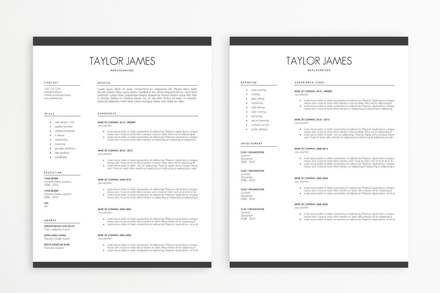 Minimalist Resume Template Minimalist Resume Template  Minimalist Template And Cv Template