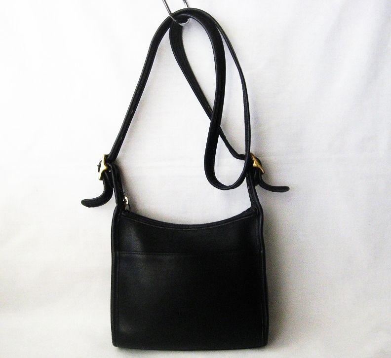 3dbbd71808 Vintage Coach Legacy Hobo Black Leather Purse Shoulder Crossbody Bag ...