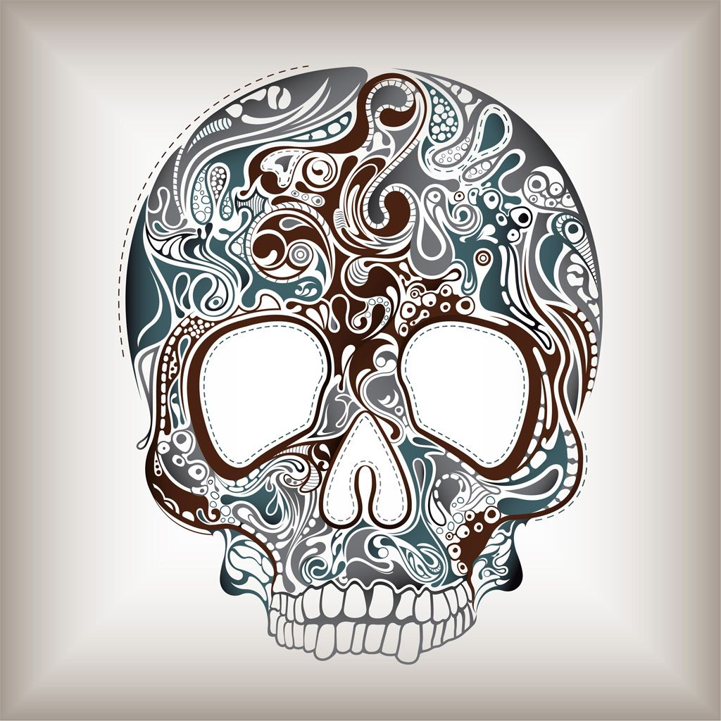 Skulls Tattoo Design Wallpaper: To Download The Wallpaper To Your IPad