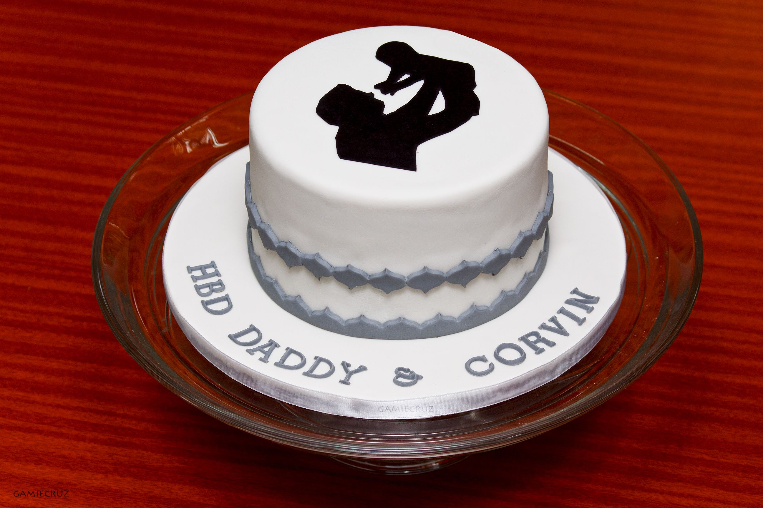 Father And Son Silhouette Cake Birthday Cake For Father