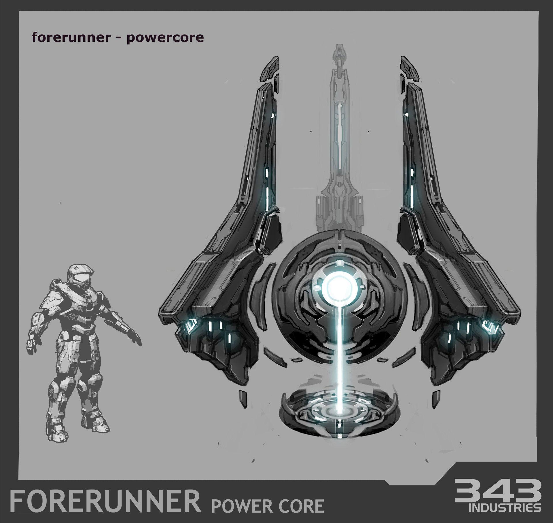 Inspirational ArtStation Forerunner Power Core for Halo Kory Hubbell