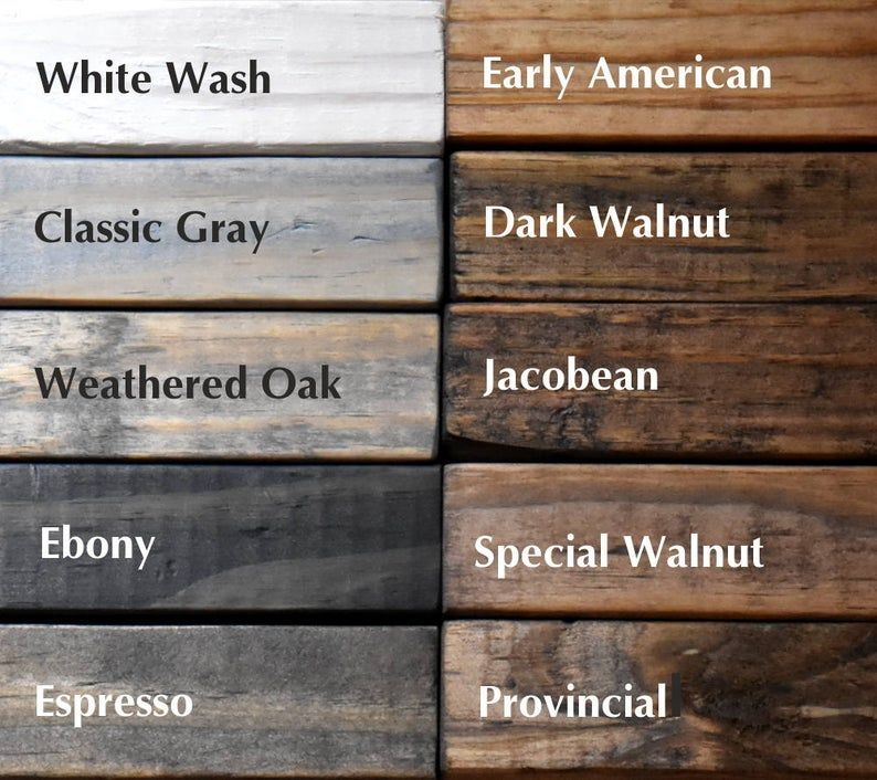 Wood Sample for our rustic farmhouse industrial shelves and garment racks