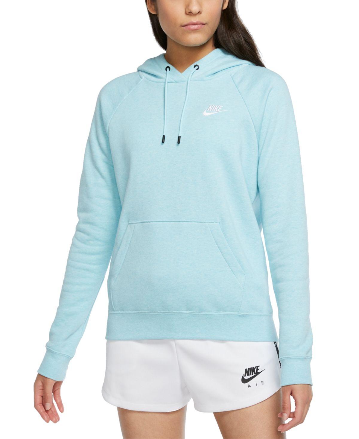 Nike Women S Sportswear Essential Fleece Hoodie Reviews Tops Women Macy S In 2021 Nike Hoodies For Women Sportswear Women Hoodies [ 1467 x 1200 Pixel ]