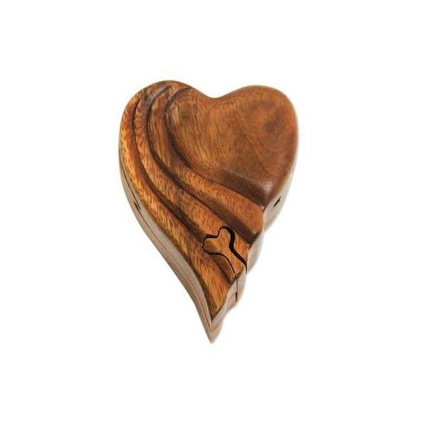Novica Heart Shaped Wood Puzzle Box 23 Liked On Polyvore Featuring Home Home Decor Small Item Storage Decor Acc Wood Puzzles Wood Puzzle Box Puzzle Box