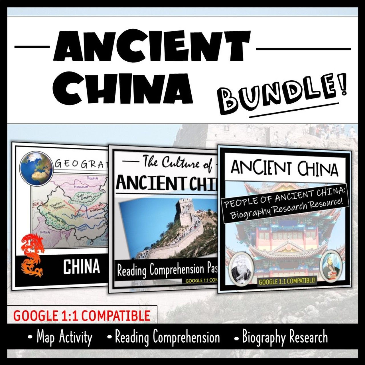 Ancient China Map Activity Reading Comprehension And Bio