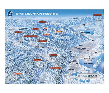 Utah Ski Map Poster 7 Skiresortgifts Com Online Store Utah Skiing Utah Ski Resorts Utah Mountains