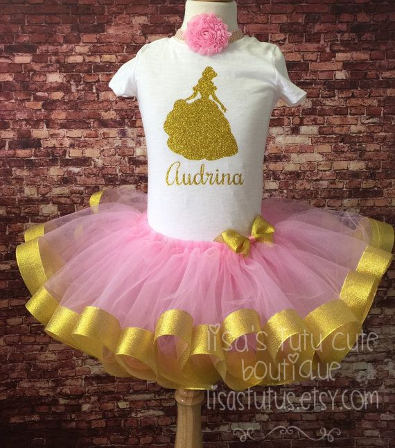 fe96543f17f Presidents Day sale Princess Silhouette Birthday Set. Ribbon tutu. Princess  Birthday. Princess tutu. Beauty and the beast. Belle tutu dress.