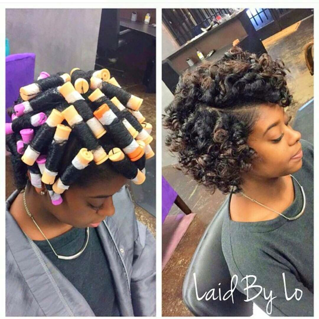 roller set | naturalista! | curly hair styles, short hair