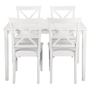 Buy Jessie Dining Table And 4 White Cross Back Chairs At Argoscouk