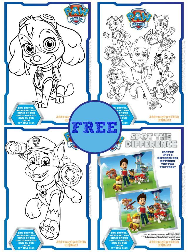 Paw Patrol Coloring Pages With Games : Free paw patrol coloring books activity sheets