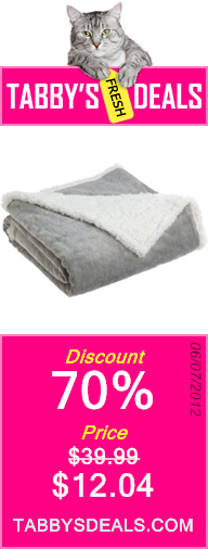 Northpoint Cuddly Regal Microsherpa Throw $12.04