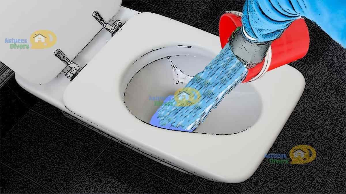 Nettoyer Lunette Toilettes Vinaigre Blanc 2 solutions pour déboucher la toilette : eau chaude et
