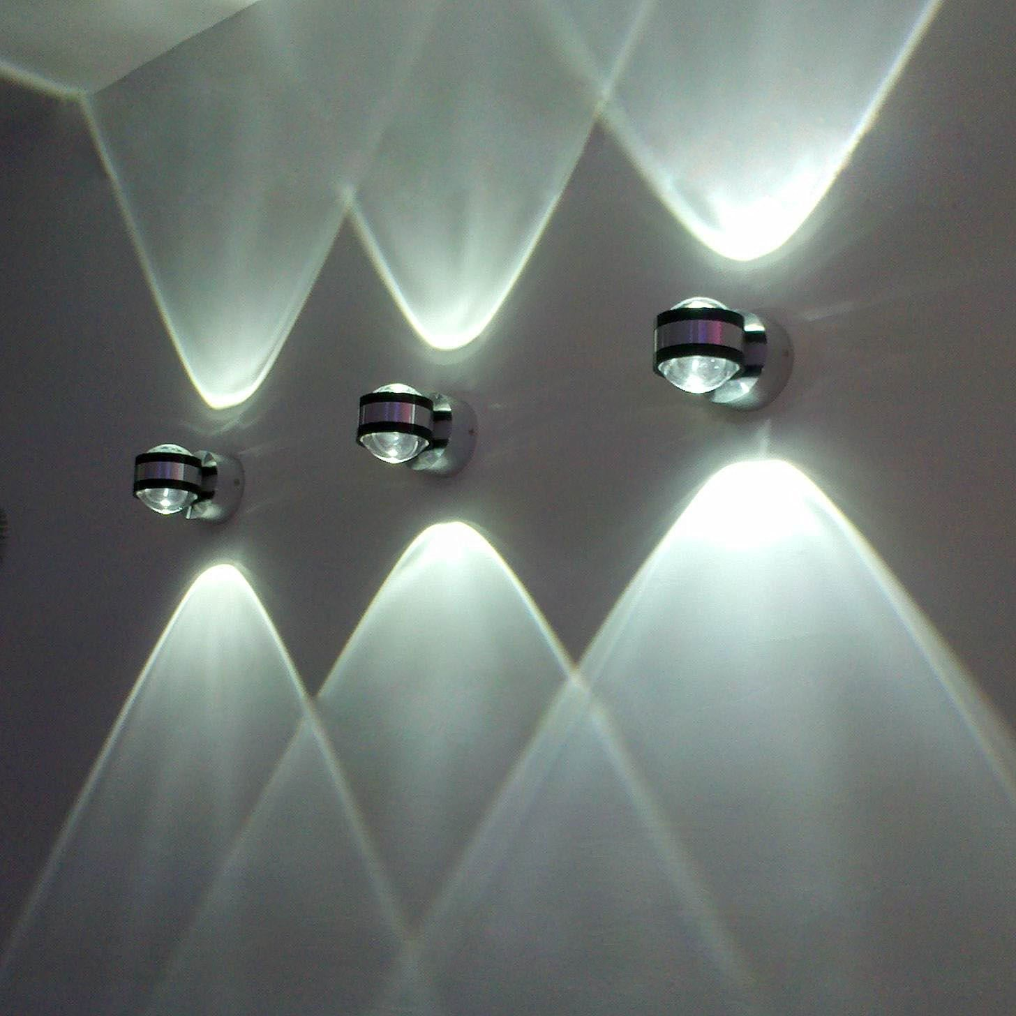 2W LED Wall Light Cool White 180LM High Power Indoor Up And Down Lighting Staircase