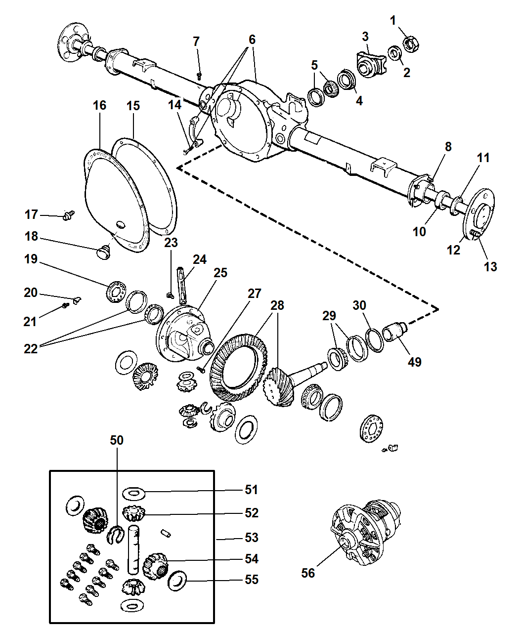 Dodge Ram Axle Housing Rear With Differential