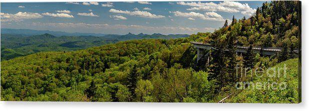 Linn Cove Viaduct Panorama Acrylic Print By Norma