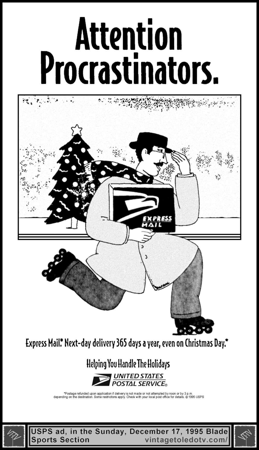Vintage Toledo TV - Holiday Ads - Attention Procrastinators ...