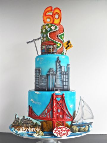 San Francisco Cake | Favorite Cakes | Custom birthday cakes, Cake ...