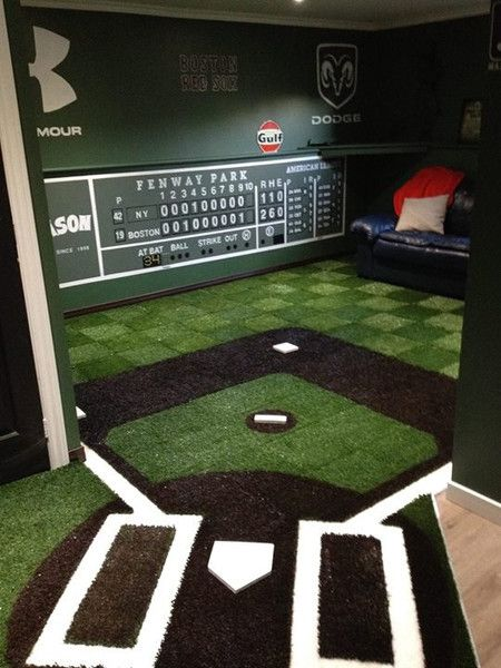 Boston Red Sox Man Cave - Inside the Green Monster #mancave