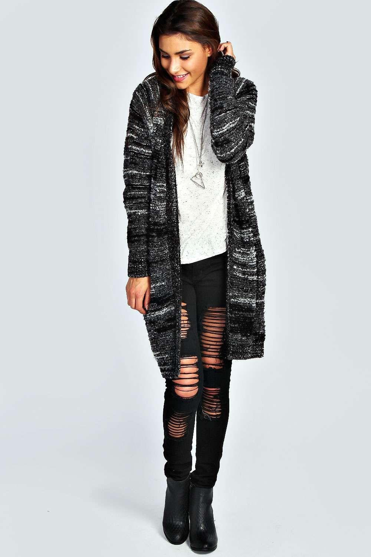 Boohoo Bedra Boucle Marl Knit Maxi Cardigan - on Vein - getvein ...